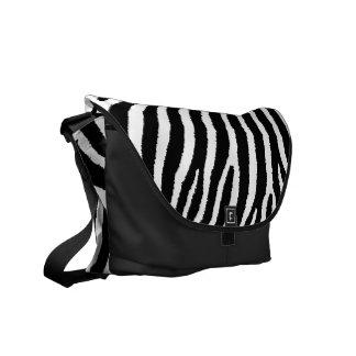 La bolsa de mensajero rayada del estampado de zebr bolsa de mensajería