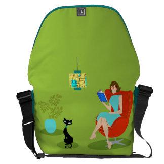 La bolsa de mensajero retra del carrito de la bolsas de mensajería