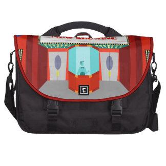La bolsa de mensajero retra del ordenador portátil bolsas de portátil