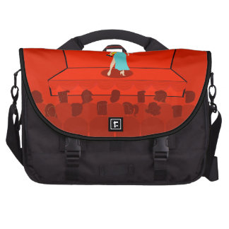 La bolsa de mensajero retra del ordenador portátil bolsas de portatil