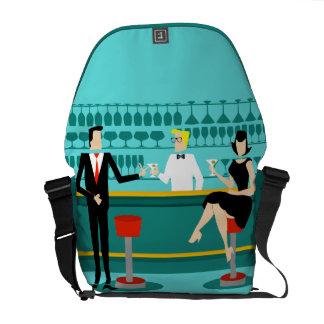La bolsa de mensajero retra del salón de cóctel bolsas de mensajería
