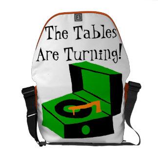 La bolsa de mensajero retra del tocadiscos bolsa de mensajería