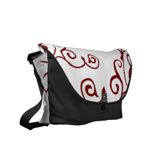 La bolsa de mensajero (roja) de la marfil del cirr bolsas de mensajería
