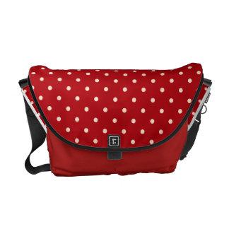 La bolsa de mensajero roja de los lunares bolsas messenger