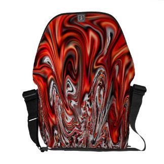 La bolsa de mensajero roja del viajero del viaje d bolsas de mensajeria