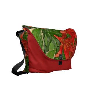 La bolsa de mensajero roja deliciosa, brillante de bolsas de mensajería
