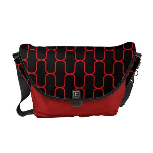 La bolsa de mensajero roja moderna bolsas messenger