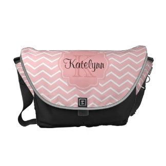 La bolsa de mensajero rosada de la bolsa de pañale bolsa messenger