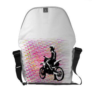 La bolsa de mensajero rosada de la ondulación bolsas de mensajeria