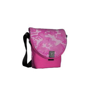 La bolsa de mensajero rosada del camuflaje bolsa de mensajería