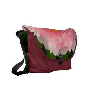 La bolsa de mensajero rosada del carrito del Peony Bolsas De Mensajería