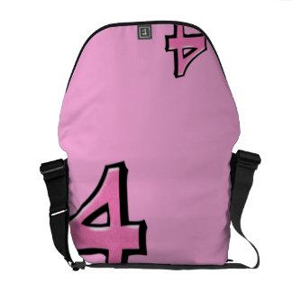 La bolsa de mensajero rosada del número 4 tontos bolsa de mensajeria