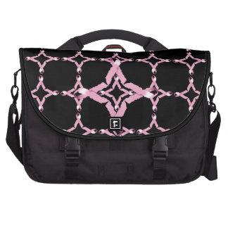 La bolsa de mensajero rosada del ordenador portáti bolsas de portatil