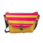La bolsa de mensajero rosada y amarilla de las ray bolsa messenger