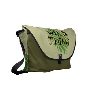 La bolsa de mensajero salvaje del carrito de la co bolsas de mensajería