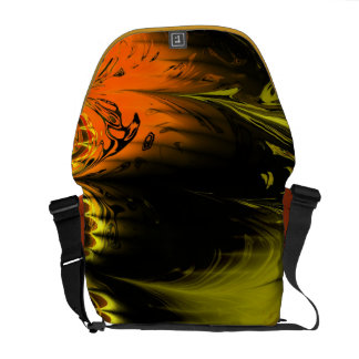 La bolsa de mensajero Salvaje-y-Loca del diseño de Bolsas De Mensajería