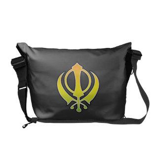 La bolsa de mensajero sikh de Khanda del Sikhism Bolsa De Mensajería