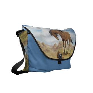 La bolsa de mensajero solitaria del mustango bolsas messenger