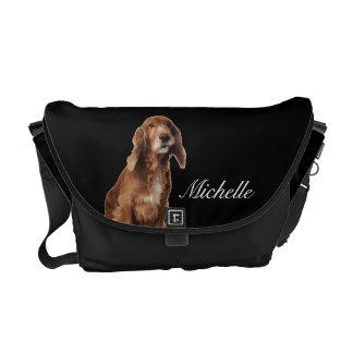 La bolsa de mensajero sonriente del perro de Brown Bolsa Messenger