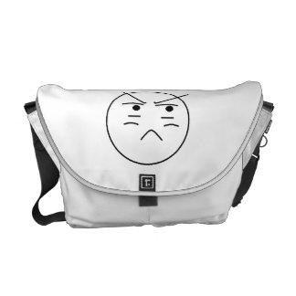 La bolsa de mensajero sonriente enfadada bolsas messenger