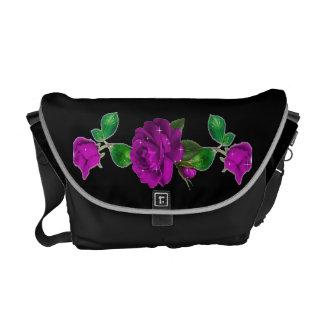 La bolsa de mensajero subió chispa púrpura del car bolsas de mensajería