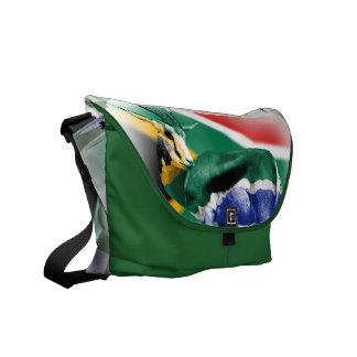 La bolsa de mensajero surafricana de la bandera de bolsa de mensajeria