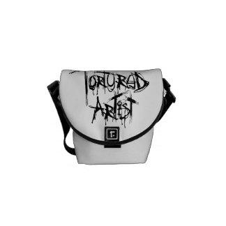 La bolsa de mensajero torturada del artista bolsa de mensajería