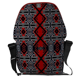 La bolsa de mensajero tribal abstracta geométrica bolsas de mensajería