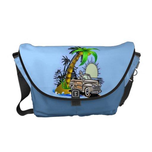 La bolsa de mensajero tropical del carrito de la e bolsas de mensajería