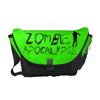La bolsa de mensajero verde de la apocalipsis del  bolsas de mensajeria