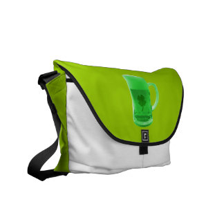 La bolsa de mensajero verde de la cerveza bolsas messenger