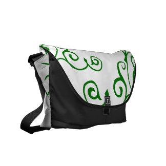 La bolsa de mensajero (verde) de la marfil del cir bolsa de mensajería