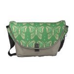 La bolsa de mensajero verde de la mariposa bolsa messenger