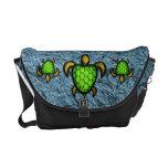 La bolsa de mensajero verde de la tortuga de Shell Bolsas Messenger