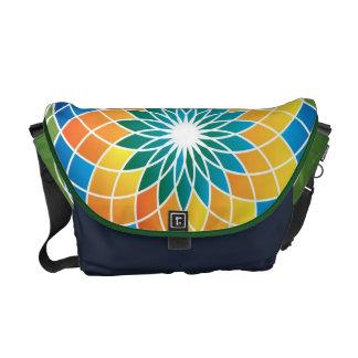 La bolsa de mensajero verde del carrito bolsa messenger