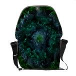 La bolsa de mensajero verde del carrito del espaci bolsas de mensajeria
