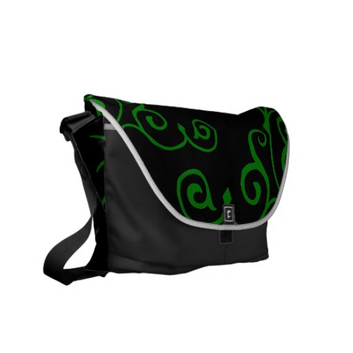 La bolsa de mensajero (verde) del ébano del cirro bolsas messenger