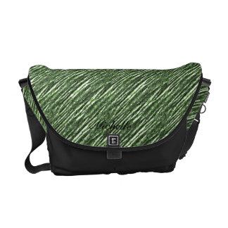 La bolsa de mensajero verde del extracto de la hoj bolsa de mensajeria