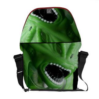 La bolsa de mensajero verde del monstruo bolsa de mensajería