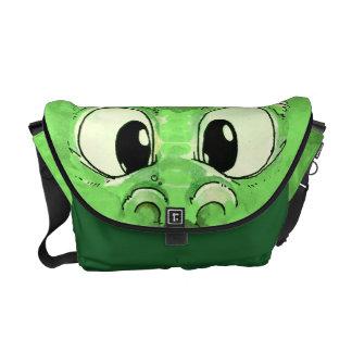 La bolsa de mensajero verde del monstruo del bebé bolsa de mensajeria