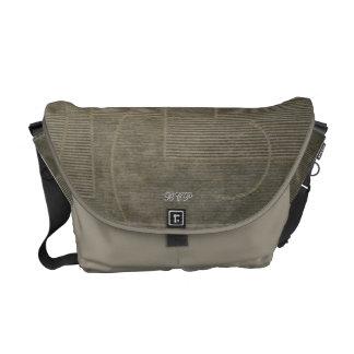 La bolsa de mensajero verde del proyecto del violo bolsa de mensajería