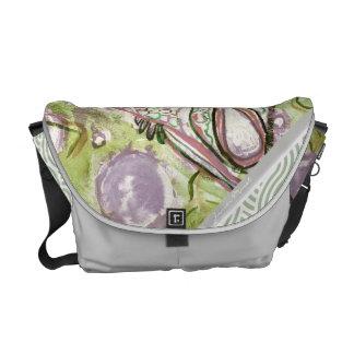 La bolsa de mensajero verde del remolino bolsas messenger