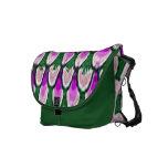 La bolsa de mensajero verde púrpura del carrito de bolsa de mensajería