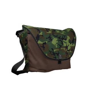 La bolsa de mensajero verde y marrón de la impresi bolsas messenger