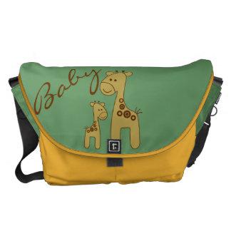 La bolsa de pañales adaptable del estampado de gir bolsas de mensajería