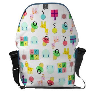 La bolsa de pañales adulta del bebé del bolso del bolsa de mensajería