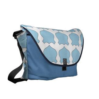La bolsa de pañales azul de la insignia, la bolsa  bolsas de mensajeria