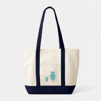 La bolsa de pañales azul del robot