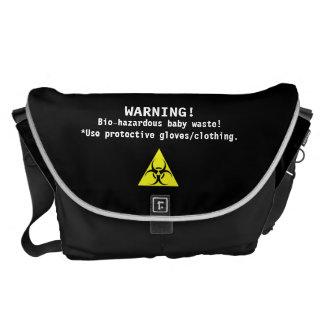 La bolsa de pañales/Bio-Peligroso-humor Bolsas De Mensajeria