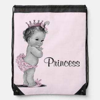 La bolsa de pañales de la princesa rosa bebé del v mochila